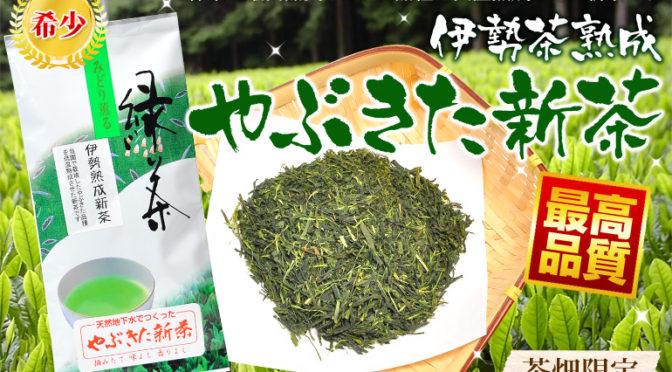 熟成やぶきた新茶2本セット1000円ポッキリ送料無料